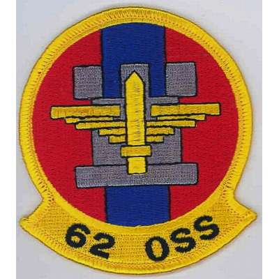 NÁŠIVKA US 1Š 80x90mm 62nd OPERATIONS SUPPORT SQUADRON 04
