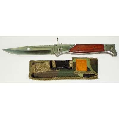 NŮŽ AK-47 VYHAZOVACÍ VELKÝ, 34cm, 15,5cm ČEPEL LOVECKÝ