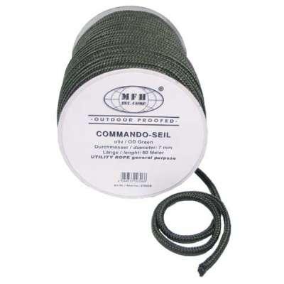 LANO COMMANDO-SEIL 7mm 1 METER OLIV
