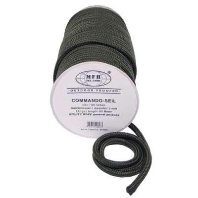 LANO COMMANDO-SEIL 9mm 1 METER OLIV