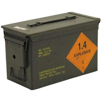 BEDNA US NA MUNICI M2A1 Cal.50/5,56 27,5x8,5x18cm KOV orig OLIV