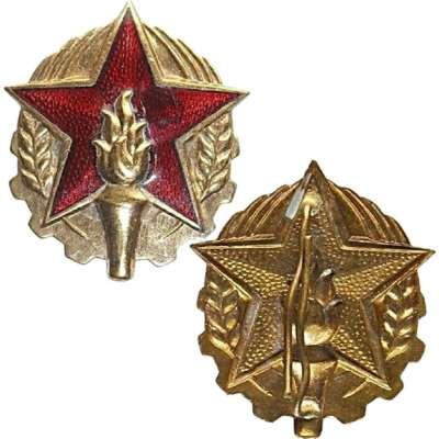 ODZNAK HASIČ ČEPICOVÝ 32x40mm VELKÝ 1980-1989
