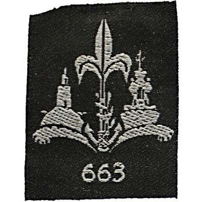 NÁŠIVKA Izrael BP 38x50mm ČER