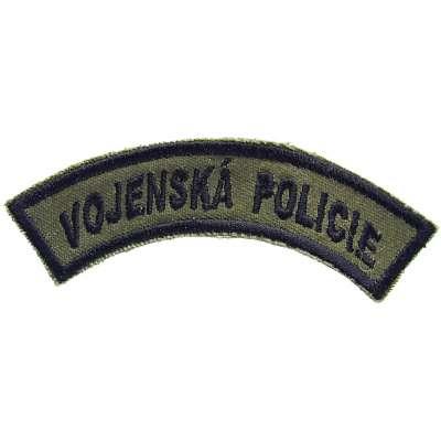 NÁŠIVKA AČR 4R 105x40mm VOJENSKÁ POLICIE OLIV-ČERNÁ