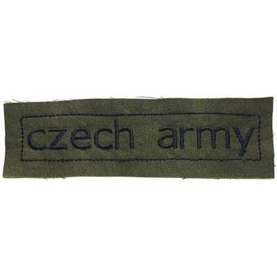 NÁŠIVKA AČR 4R 150x45mm CZECH ARMY OLIV-ČERNÁ