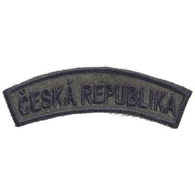 NÁŠIVKA AČR 98x30mm ČESKÁ REPUBLIKA OLIV-ČERNÁ