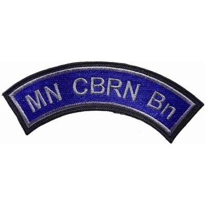 NÁŠIVKA US 127x45 CBRN Chemical Biological Radiological Nuclear MODRÁ