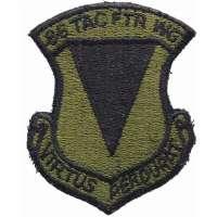 NÁŠIVKA US Š 75x95mm 86th AIRLIFT WING AIEFORCE OLIV-ČERNÁ