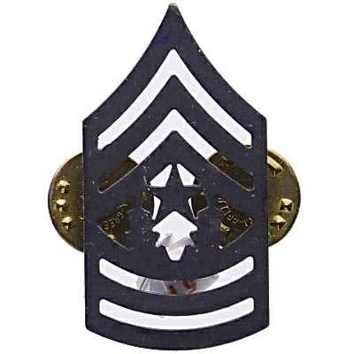 ODZNAK US COMMAND SERGEANT MAJOR ČERNÝ