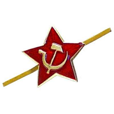 ODZNAK SSSR 25x25mm Rudá hvězda malá