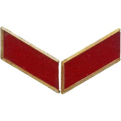 NÁŠIVKA SSSR 80x28mm VÝLOŽKY KOVOVÉ ČERVENO-ZLATÉ