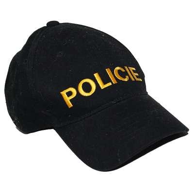 ČEPICE BASEBALL POLICIE ŽLUTÁ VÝŠIVKA ČERNÁ