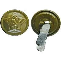 KNOFLÍK SSSR 15mm MALÝ POLNÍ OLIV