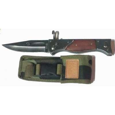 NŮŽ AK-47 VYHAZOVACÍ STŘED 27cm, 12cm ČEPEL LOVECKÝ
