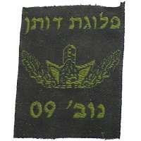 NÁŠIVKA Izrael ČP 37x48mm 760 Oliv