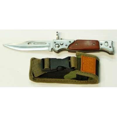 NŮŽ AK-47 VYHAZOVACÍ MALÝ 22cm, ČEPEL 10cm LOVECKÝ