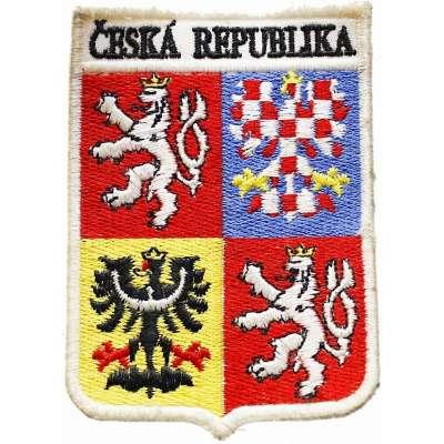 NÁŠIVKA ČESKÁ REPUBLIKA  ZNAK RUKÁVOVÝ 60x90mm