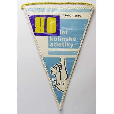 VLAJEČKA KOLÍN 14x21cm 1900-1980 80 LET ATLETIKY