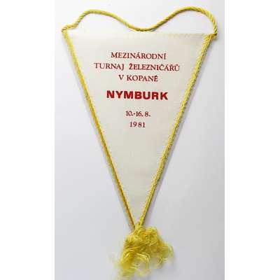 VLAJEČKA NYMBURK 14x19cm FOTBAL MEZINÁRODNÍ TURNAJ ŽELEZNIČÁŘŮ 16-16.8.1981
