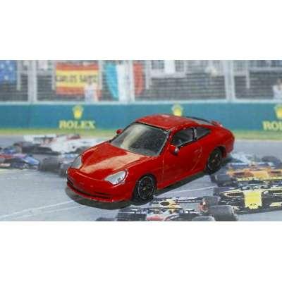 AUTÍČKO PORCHE 911 GT3 vel 1:58 KOV 76x31mm ČERVENÉ