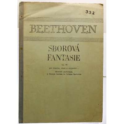 NOTY Duš.Machovec Lud. van Bethoven Op.80 SBOROVÁ FANTAZIE (7 stran)