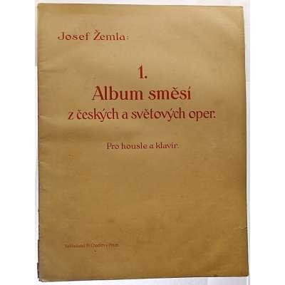 NOTY nakladatel Fr.Chadim Praha J.Žemla 1 ALBUM SMĚSÍ Z ČES A SVĚT OPER housle a klavír 1924 (31 stran)