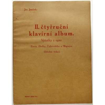 NOTY nakladatel Fr.Chadim Praha Jos. Jeníček II. ČTYŘRUČNÍ KLAVÍRNÍ ALBUM 1924 (22 stran)