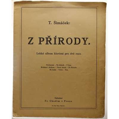 NOTY nakladatel Fr.Chadim Praha T.Šimáček Z PŘÍRODY 1920 (16 stran)