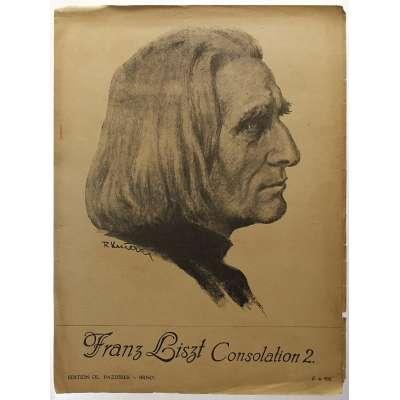 NOTY nakladatel O.Pazdírek Brno Franz Liszt CONSOLATION 2 1943 (3 stran)