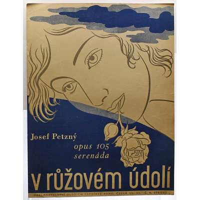 NOTY nakladatel O.Pazdírek Brno J.Petzný Op.105 V RŮŽEVÉM ÚDPLÍ serenáda 1943 (2 strany)