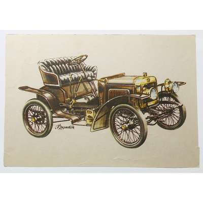 POHLED AUTO LAURIN A KLEMENT 1905