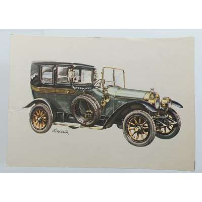 POHLED AUTO LAURIN A KLEMENT DN-1913