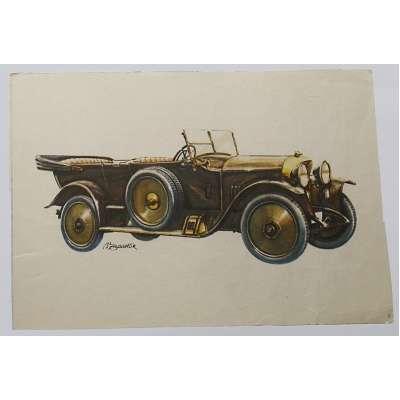 POHLED AUTO PRAGA GRAD 1919