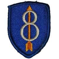 NÁŠIVKA US 50x70mm 8th Infantry Division