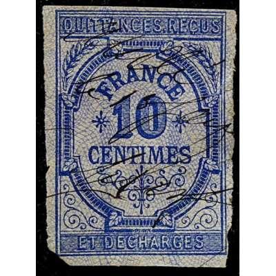 ZNÁMKA FRANCIE 1871 KOLEK 10 centimes ET DECHARGES MODRÁ
