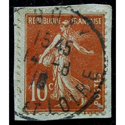 ZNÁMKA FRANCIE do 1935 10 cent ORANŽOVÁ