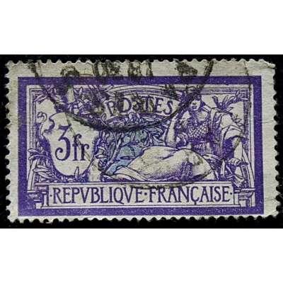ZNÁMKA FRANCIE do 1935 3 frank FIALOVÁ