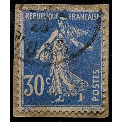 ZNÁMKA FRANCIE do 1935 30 cent MODRÁ