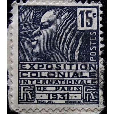 ZNÁMKA FRANCIE KOLONIE 1931 15 cent