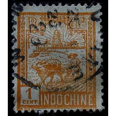 ZNÁMKA FRANCIE KOLONIE INDOČÍNA do 1935 1 cent ORANŽOVÁ