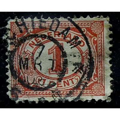 ZNÁMKA HOLANDSKO 1899-1935 1 cent ČERVENÁ