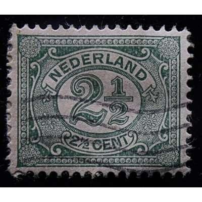 ZNÁMKA HOLANDSKO 1899-1935 2 1/2 cent ZELENÁ