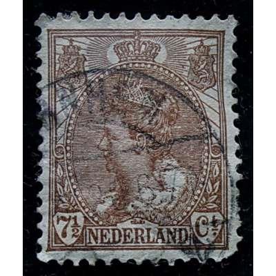 ZNÁMKA HOLANDSKO 1899-1935 7 1/2 cent HNĚDÁ