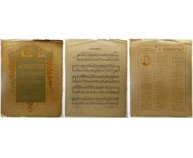 NOTY nakladatel M.Urbánek Praha E.Kraus LA PLUIE D'OR 1919 (3 strany)
