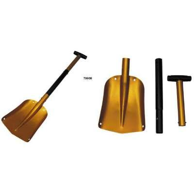 LOPATA SNĚHOVÁ ZASOUVACÍ ALU 280x215x1,7mm ROZTAŽENÍ Z 66 na 80cm oranžová