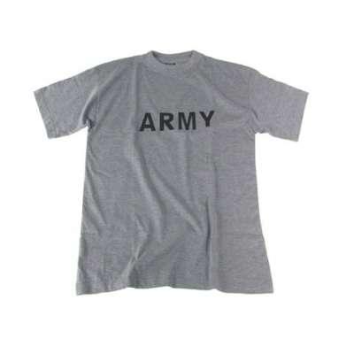 TRIKO US POTISK Army ŠEDÉ