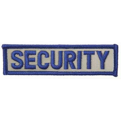 NÁŠIVKA SECURITY 10x2,7cm MODRÁ