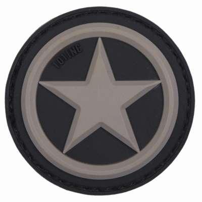 NÁŠIVKA 3D VPC USA STAR 4,5cm SUCHÝ ZIP ŠEDÁ