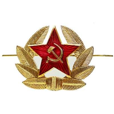 ODZNAK SSSR čepicový 50x40mm HVĚZDA DŮSTOJNICKÁ