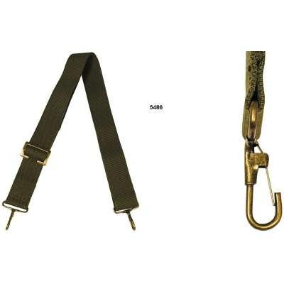 ŘEMEN K TAŠCE 38mm 75-125cm 2 KARABINKY OLIV
